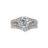 1.09 ct. Round Cut Bridal Set Ring, J-K, SI2-I1 #2