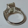 3.14 ct. Emerald Cut 3 Stone Ring #4