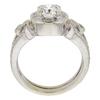 0.72 ct. Round Cut Bridal Set Ring, F, SI2 #4