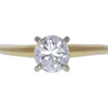 0.82 ct. Round Cut Solitaire Ring, F, I1 #3