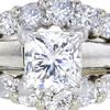 0.97 ct. Princess Cut Bridal Set Ring, I, SI1 #4