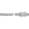 1.21 ct. Princess Cut Bridal Set Ring, I, SI2 #3