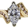 1.01 ct. Marquise Cut Solitaire Ring, F, VS1 #4