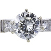 0.85 ct. Round Cut Bridal Set Ring, J, VS2 #4
