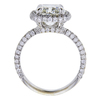 3.01 ct. Cushion Cut Bridal Set Ring, J, SI2 #3