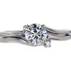 0.80 ct. Round Cut Bridal Set Ring, I, I1 #3