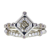 1.21 ct. Asscher Cut Bridal Set Ring, J, SI1 #3
