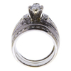 0.95 ct. Marquise Cut Bridal Set Ring, G-H, I1 #3