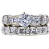 0.71 ct. Round Cut Bridal Set Ring, D, I1 #3
