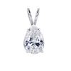 1.51 ct. Pear Cut Pendant Necklace #3