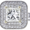 1.65 ct. Princess Cut Halo Ring, K, VS2 #4