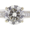 2.12 ct. Round Cut Solitaire Ring, L, SI2 #4