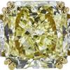 6.30 ct. Radiant Cut 3 Stone Ring, Fancy, I1 #4