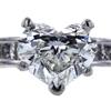 1.39 ct. Heart Cut Bridal Set Ring, H, SI2 #3