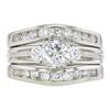 0.75 ct. Round Cut Bridal Set Ring, E, VS2 #4