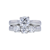 0.73 ct. Round Modified Brilliant Cut Bridal Set Ring, F, VS1 #3