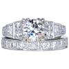 1.18 ct. Round Cut Bridal Set Ring, H, VVS2 #1