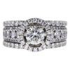 0.7 ct. Round Cut Halo Ring, I, SI2 #3