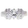 1.0 ct. Round Cut Solitaire Ring, K, SI1 #3