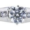 0.76 ct. Round Cut Solitaire Ring, H, VS1 #1