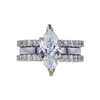 2.02 ct. Marquise Cut Bridal Set Ring, F, SI1 #4