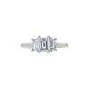 0.90 ct. Emerald Cut 3 Stone Ring, E, VS1 #3