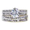 1.22 ct. Round Cut Bridal Set Ring, G, VS2 #3