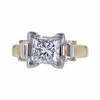 2.03 ct. Princess Cut 3 Stone Ring, E, SI1 #3