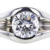 1.01 ct. Round Cut Solitaire Ring, H-I, VS1-VS2 #1