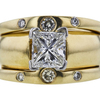 1.50 ct. Princess Cut Bridal Set Ring, H, VS2 #4