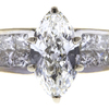 1.01 ct. Marquise Cut Solitaire Ring, H, VS2 #4