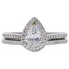 0.69 ct. Pear Cut Bridal Set Ring, D, SI1 #3
