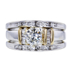 0.70 ct. Round Cut Bridal Set Ring, I, VS1 #3