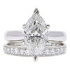 2.95 ct. Marquise Cut Bridal Set Ring, G-H, I2 #1
