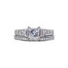 1.01 ct. Princess Cut Bridal Set Ring, F, SI2 #3