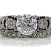 1.20 ct. Round Cut Bridal Set Ring #4