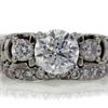1.20 ct. Round Cut Bridal Set Ring #4
