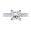 0.9 ct. Princess Cut Solitaire Ring, G-H, SI2 #1