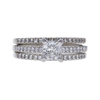 0.7 ct. Princess Cut Bridal Set Ring, F, VS1 #3