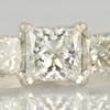 1.93 ct. Princess Cut 3 Stone Ring #4
