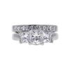 1.21 ct. Princess Cut Bridal Set Ring, D, VS2 #2