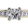 Art Deco GIA 0.82 ct. Princess Cut Solitaire Ring, I, VS1 #4