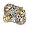 1.54 ct. Oval Cut Bridal Set Ring, I, I1 #3