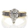 1.20 ct. Pear Cut Central Cluster Ring #2