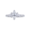 0.70 ct. Marquise Cut 3 Stone Ring, F-G, VS1 #2