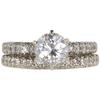 1.52 ct. Round Cut Bridal Set Ring, E, I2 #3