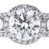 1.51 ct. Round Cut Bridal Set Ring, H, I1 #4
