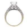 1.5 ct. Round Cut Bridal Set Ring, F, I1 #4