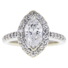 1.04 ct. Marquise Cut Halo Ring, F, SI2 #2