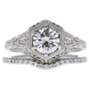 0.74 ct. Round Cut Bridal Set Ring, E, SI1 #3
